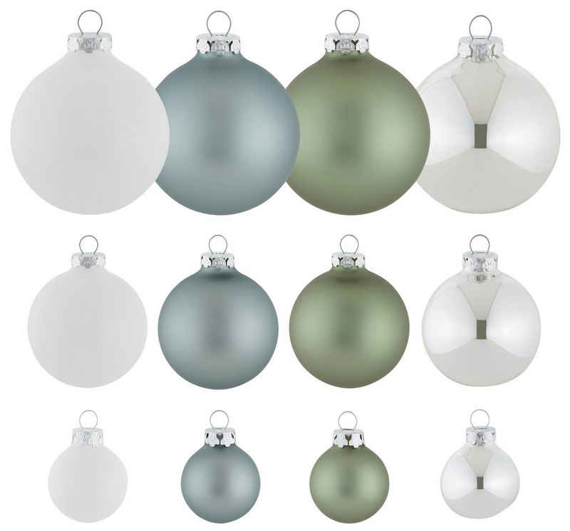Thüringer Glasdesign Weihnachtsbaumkugel »Christmas Hygge« (40 Stück)