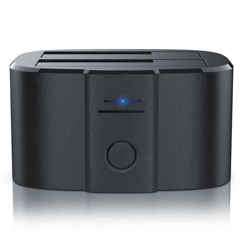 """CSL Festplatten-Dockingstation, USB 3.0 Festplatten Klon Dockingstation inkl. UASP-Unterstützung 2,5""""+3,5"""" / SATA-I+II+III"""
