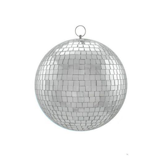 SATISFIRE Discolicht »Spiegelkugel 20cm - silber - Safety - Diskokugel Echtglas - 7x7mm Spiegel PREMIUM«