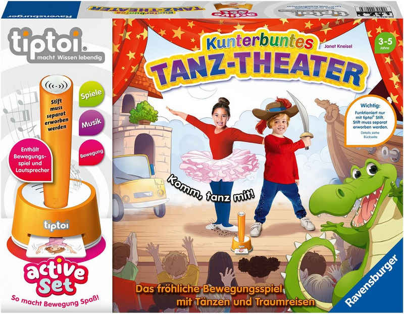 Ravensburger Spiel, »tiptoi® ACTIVE Set Kunterbuntes Tanz-Theater«, FSC® - schützt Wald - weltweit; Made in Europe