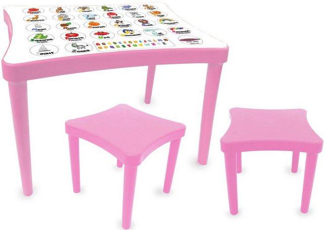Sitzmöbel - Jamara Kindersitzgruppe »Easy Learning, rosa«, (3 St)  - Onlineshop OTTO