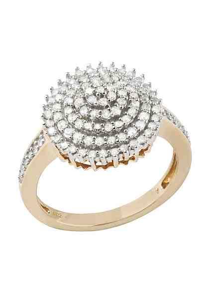 Firetti Diamantring »Blume/Blüte« mit Diamanten