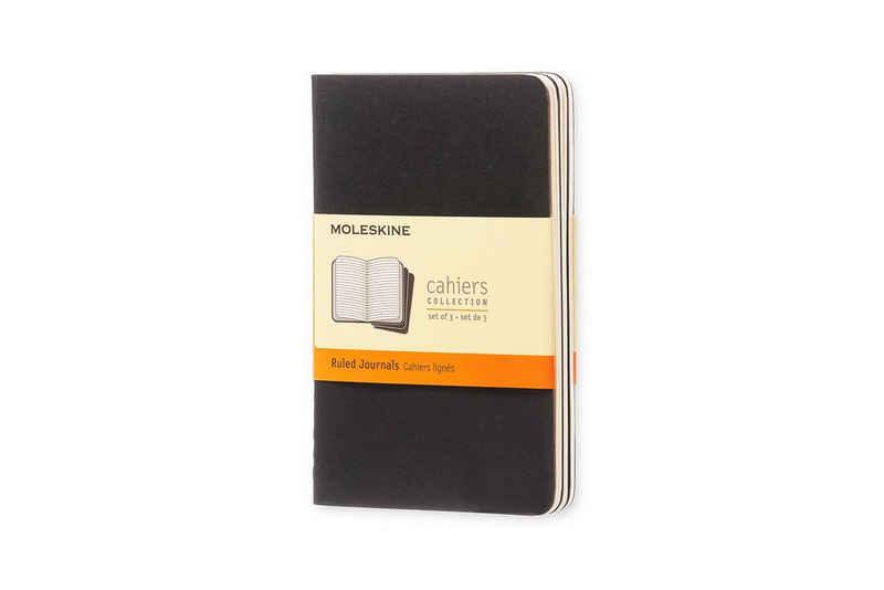 MOLESKINE Notizheft, Cahier 3er Set - mit Kartoneinband - 70g-Papier