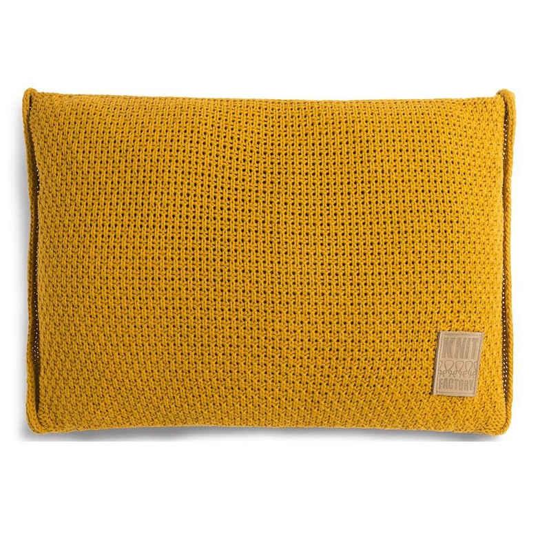Knit Factory Dekokissen »Knit Factory Jesse Kissen Ocker - 60x40«