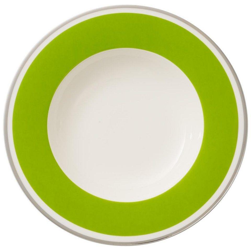 VILLEROY & BOCH Suppenteller »Anmut My Colour Forest Green« in Dekoriert