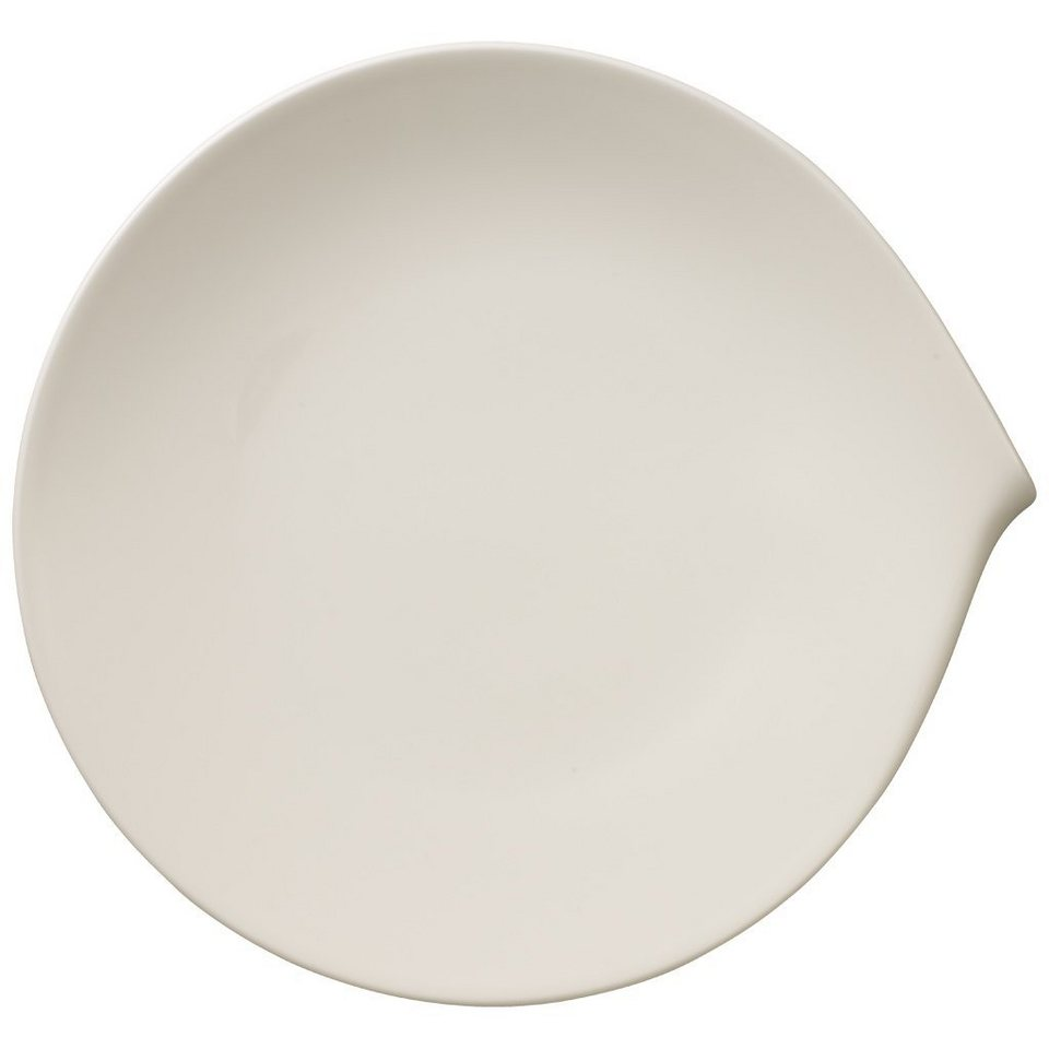 VILLEROY & BOCH Gourmetteller flach 31x29cm »Flow« in Weiss