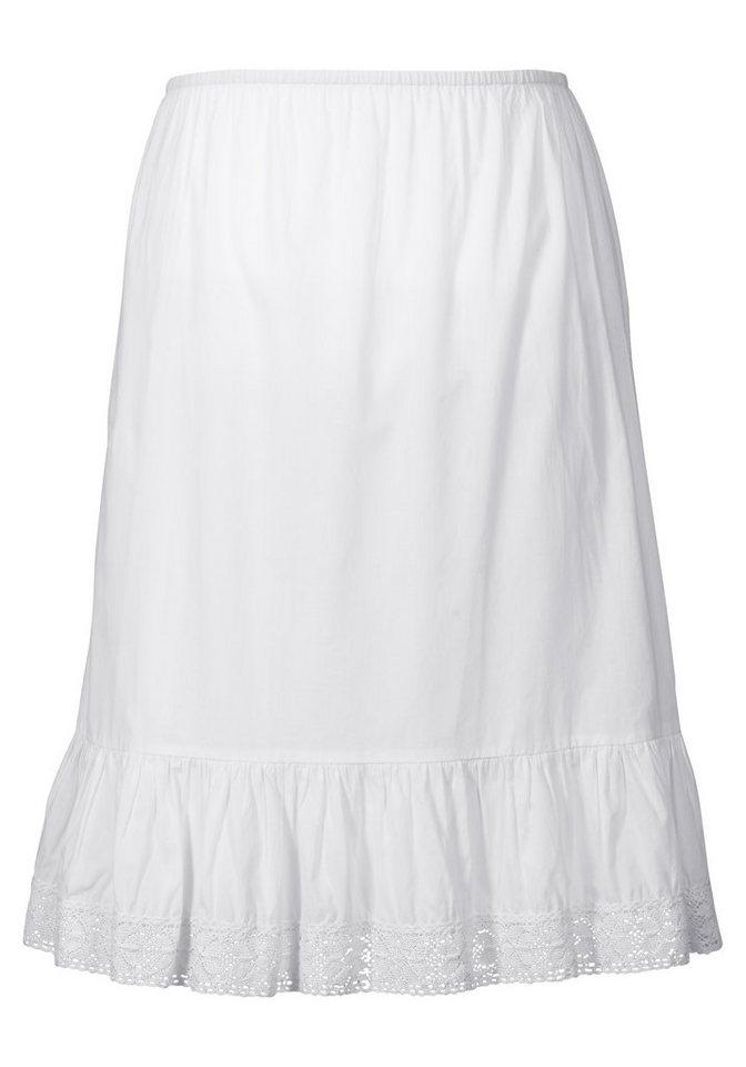 sheego Style Unterrock mit Spitze in weiß
