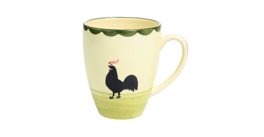 Zeller Keramik Milchkaffee Obertasse »Hahn und Henne«