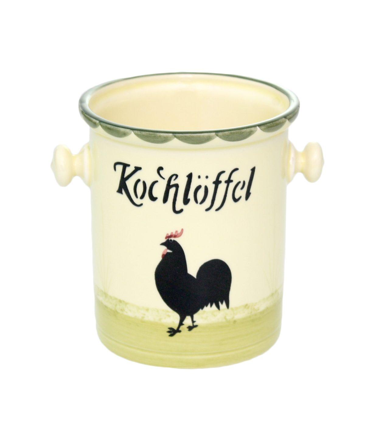 Zeller Keramik Kochlöffelbehälter »Hahn und Henne«