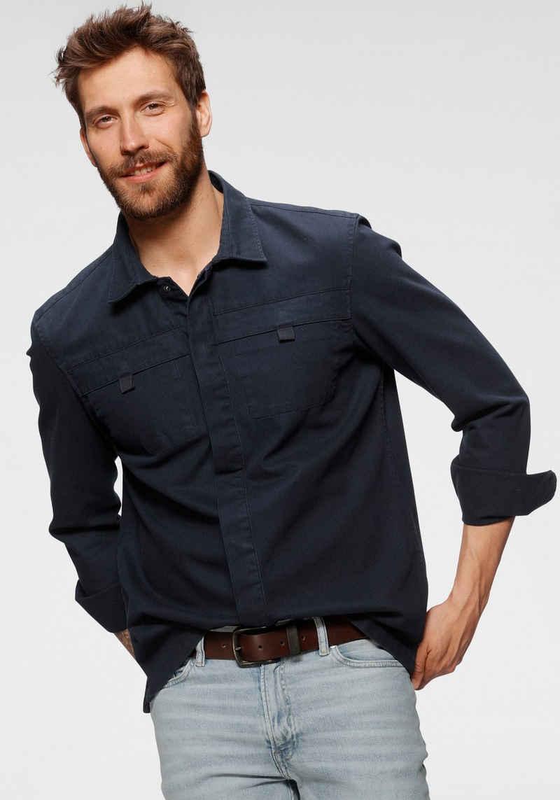 Esprit Langarmhemd mit Brusttaschen
