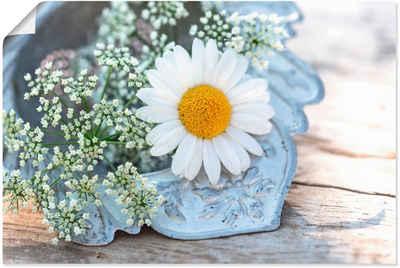 Artland Wandbild »Zarte Margeriten Blüte«, Blumen (1 Stück), in vielen Größen & Produktarten - Alubild / Outdoorbild für den Außenbereich, Leinwandbild, Poster, Wandaufkleber / Wandtattoo auch für Badezimmer geeignet