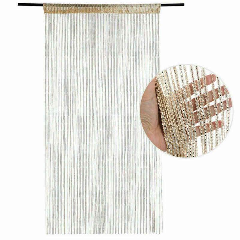 Fadenvorhang, TOPMELON, Stangendurchzug (1 Stück), Stangendurchzug, 200x100 cm