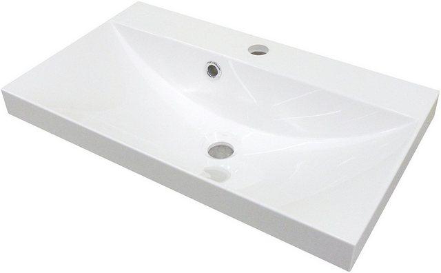 Fackelmann Waschbecken 60 cm Malua Weiß
