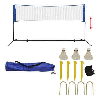 vidaXL Badmintonnetz »vidaXL Badmintonnetz Set mit 3 Bälle Federballnetz Volleyballnetz 300/500x155 cm«