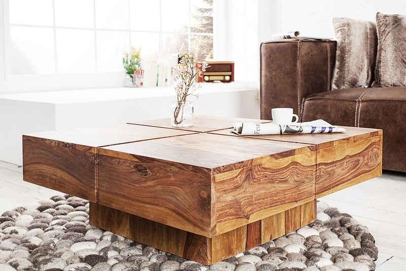 riess-ambiente Couchtisch »BOLT 80cm natur«, Wohnzimmer · Massivholz · Handarbeit · eckig