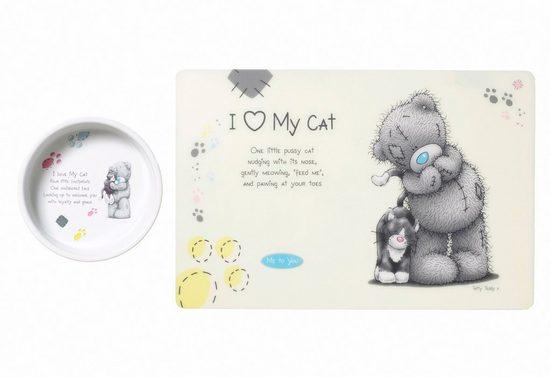 HEIM Napf-Set »Me to You Cat 1«, Keramik, 400 ml, Ø 13 cm, mit Unterlage