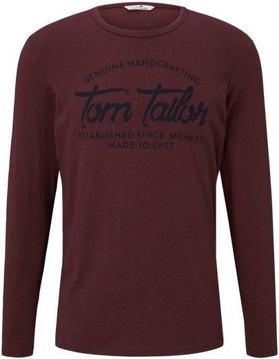TOM TAILOR Langarmshirt mit Frontprint