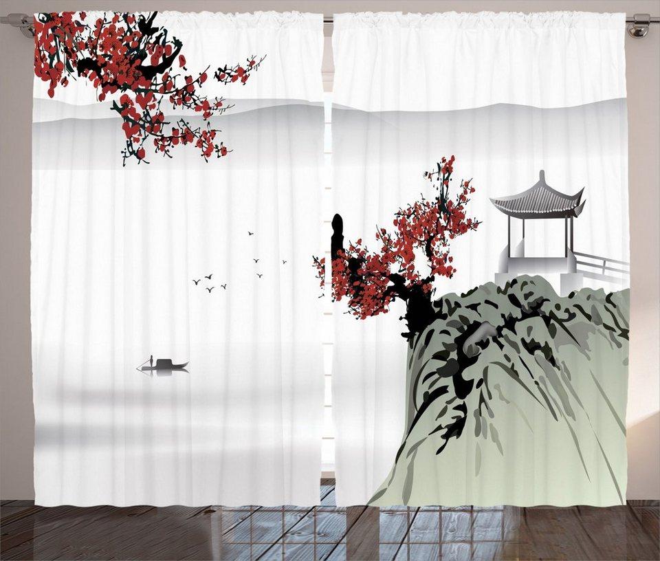 Gardine »Schlafzimmer Kräuselband Vorhang mit Schlaufen ...