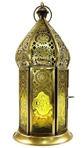 Guru-Shop Laterne »Orientalische Metall/Glas Laterne in..«