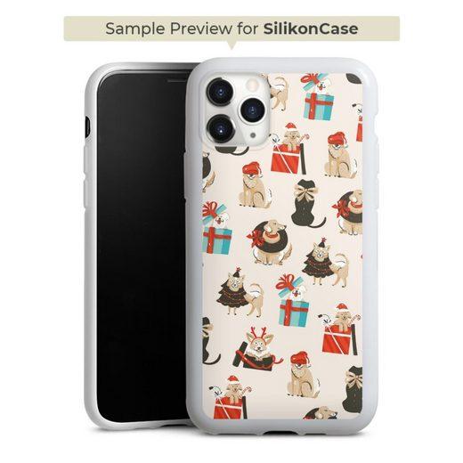 DeinDesign Handyhülle »Christmas Doggos« Samsung Galaxy J7 (2016), Hülle Haustier Hund Weihnachten