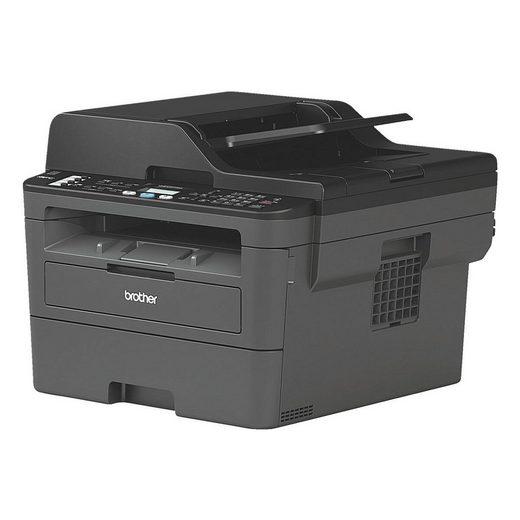 Brother MFC-L2710DN Multifunktionsdrucker, (4-in-1, mit automatischem Duplexdruck, LAN-fähig)