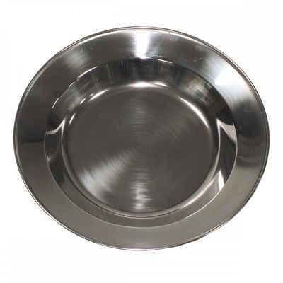 MFH Single Geschirr-Set »Suppenteller, Edelstahl, 23 cm« (1-tlg), Edelstahl, Spülmaschinengeeignet