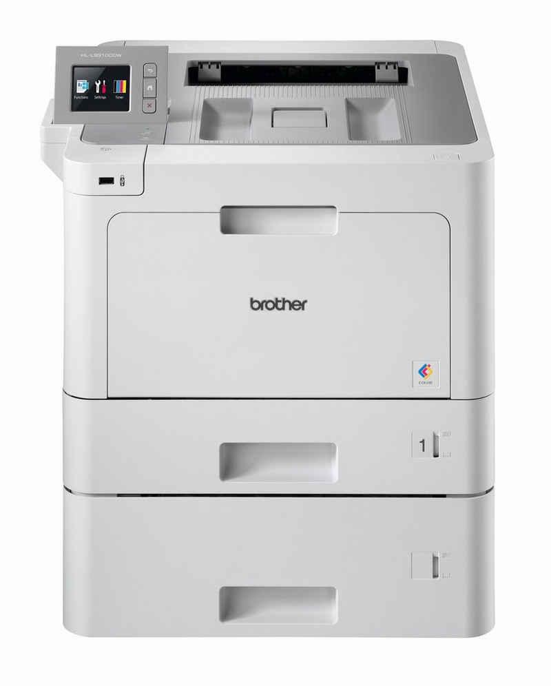 Brother Professioneller WLAN Farblaserdrucker+2 Kassetten Laserdrucker, (LAN (Ethernet), WLAN (Wi-Fi), NFC)