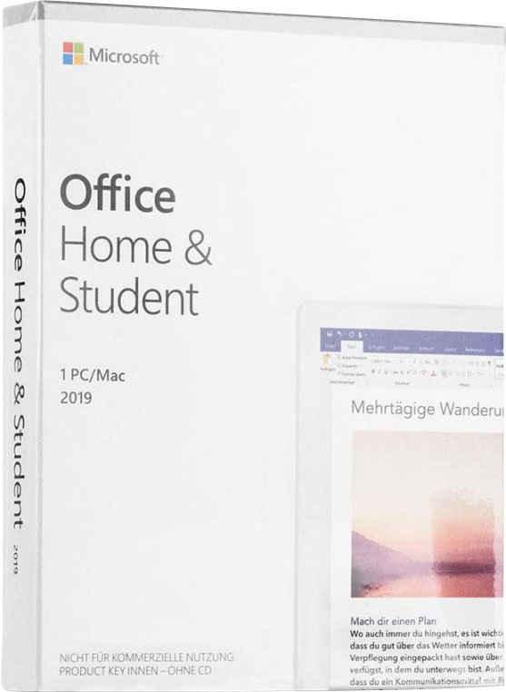 Microsoft Office Home & Student 2019 (Officeprogramm, Lizenzschlüssel)