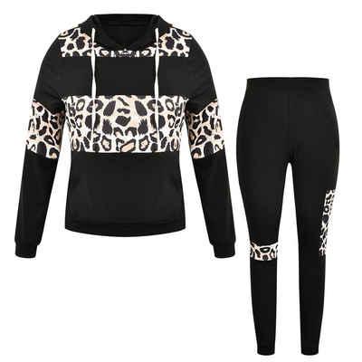 LAPA Jogginganzug »LAPA Freizeitanzug, großer Anzug, Anzug mit Leopardenmuster«