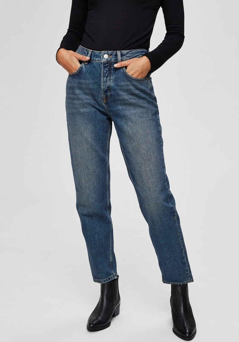 SELECTED FEMME Mom-Jeans aus klassischem Baumwolldenim