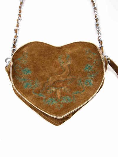 Almbock Trachtentasche »Dirndltasche Gerti«, aus Rindleder in Herzform
