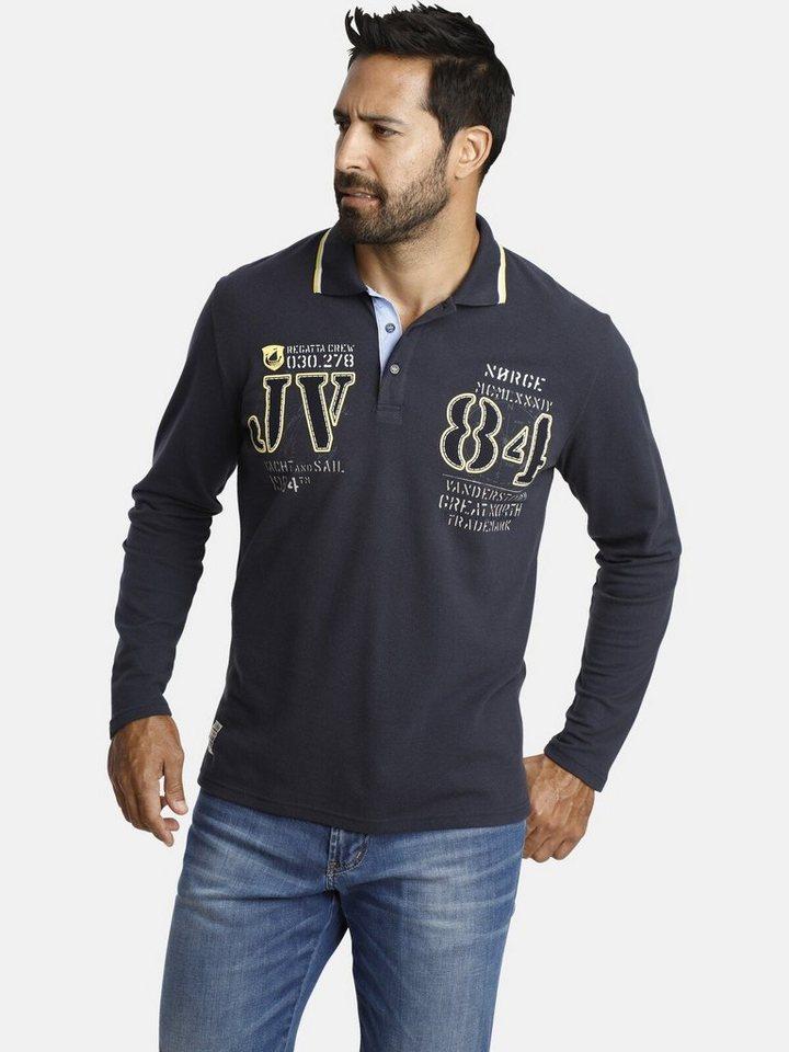 jan vanderstorm -  Langarm-Poloshirt »RADOMIR« mit plakativem JV-Brustprint