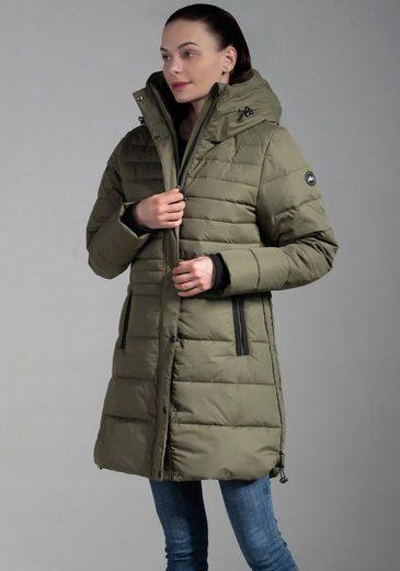 Polarino Wintermantel mit großer Kapuze