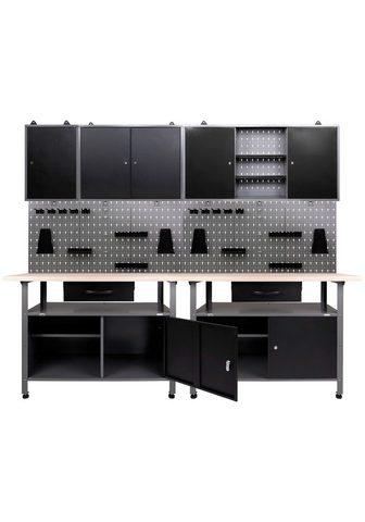 ONDIS24 Werkstatt-Set (Set) 2x Werkbank 2x Wer...