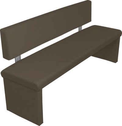 byLIVING Polsterbank »Cardy«, mit Rückenlehne, Breite 140, 160 oder 180cm, Bezug aus Kunstleder