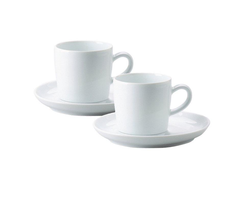 Kahla Kaffee-Gedeck 4-tlg. »Five Senses« in Weiß