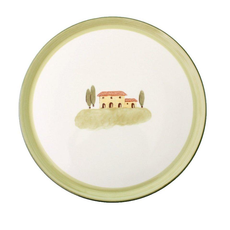 Zeller Keramik Tortenplatte »Bella Toscana« in Weiß