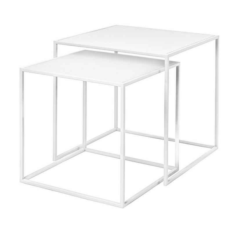 BLOMUS Beistelltisch »FERA« (2-St., 2er Set), Großer Tisch 40 x 40 x 40 cm; Kleiner Tisch 35 x 35 x 35 cm