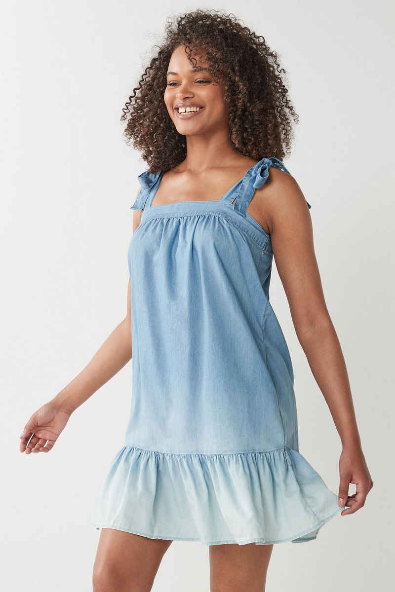 Next Jeanskleid »Babydoll-Kleid mit Batiklook« (1-tlg)
