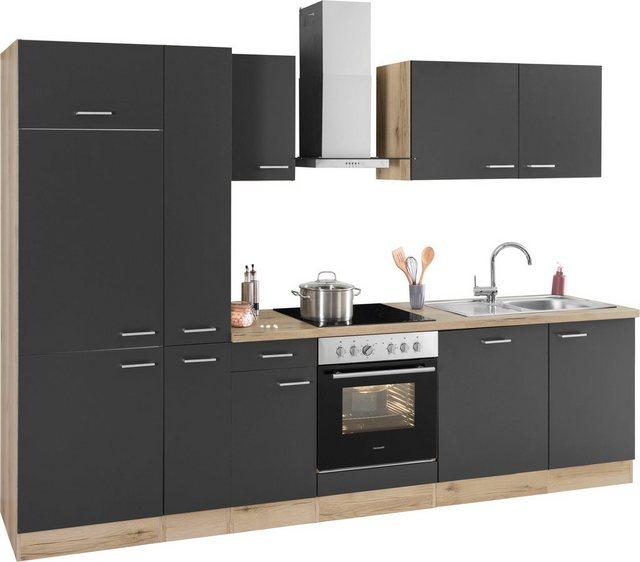 Einbauküchen - OPTIFIT Küchenzeile »Iver«, 300 cm breit, inklusive Elektrogeräte der Marke HANSEATIC, extra kurze Lieferzeit  - Onlineshop OTTO