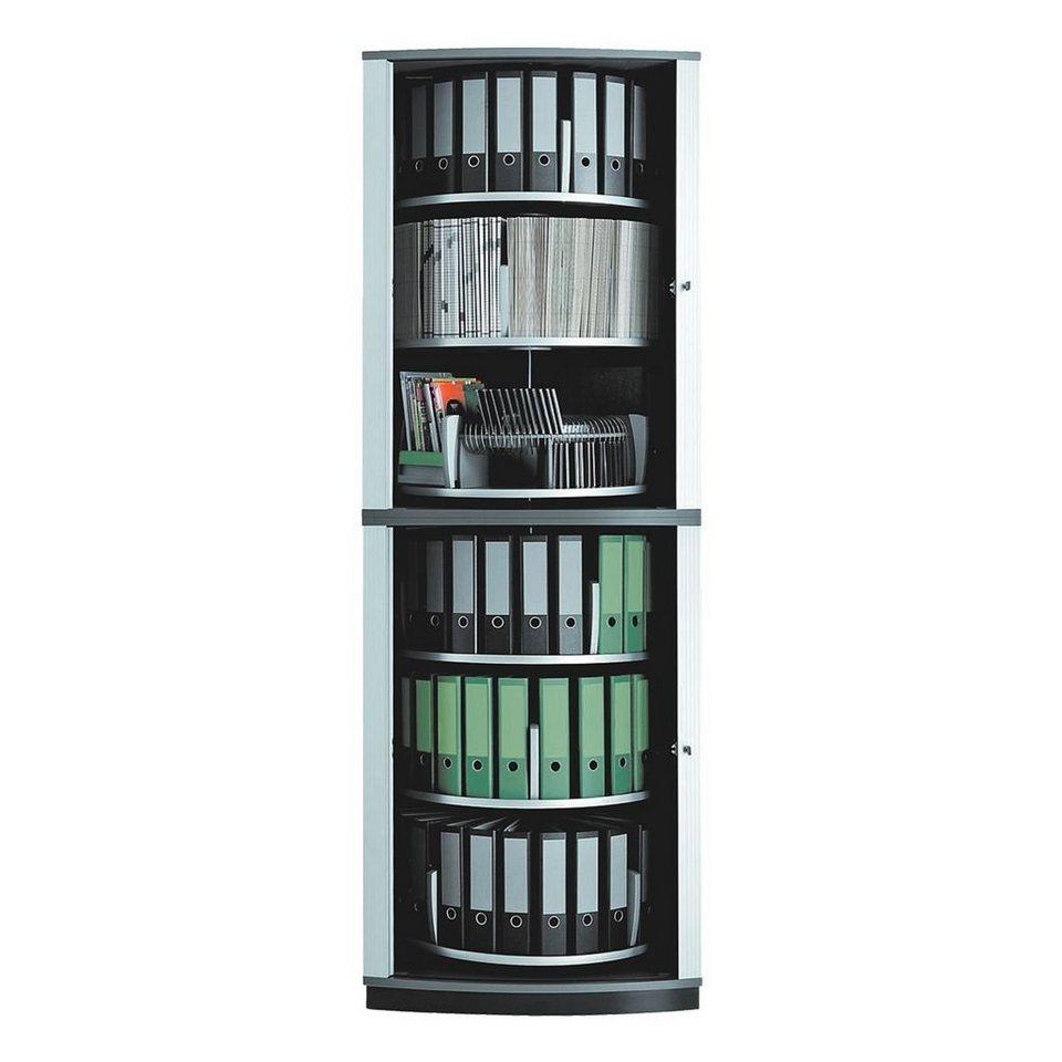 Moll Drehsäulen-Wandschrank »Lockfile Corner« in graphit