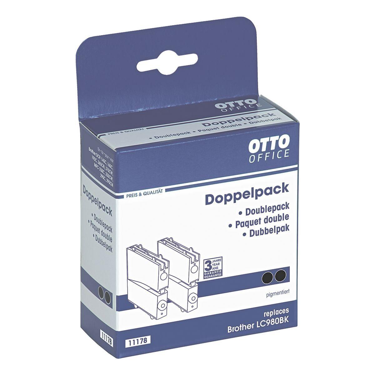 OTTO Office Standard Doppelpack Tintenpatrone ersetzt Brother »LC980BK«