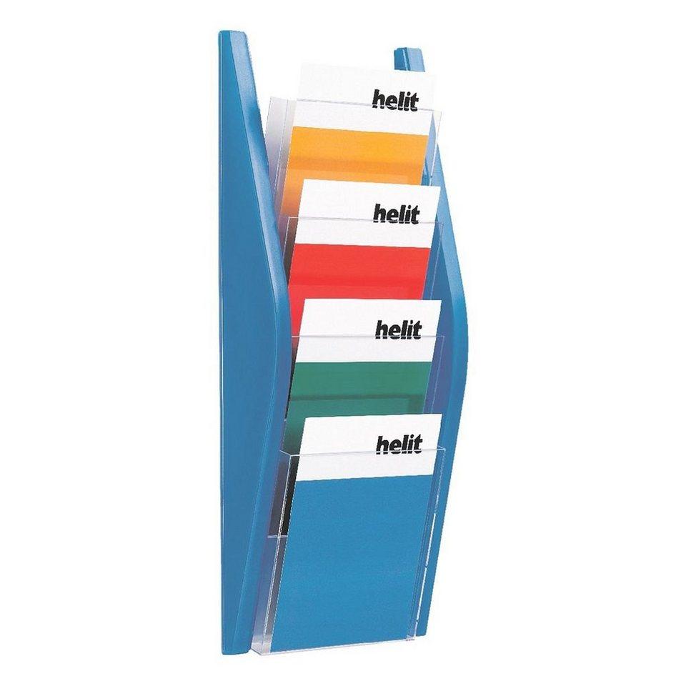 Helit Wand-Prospekthalter in blau