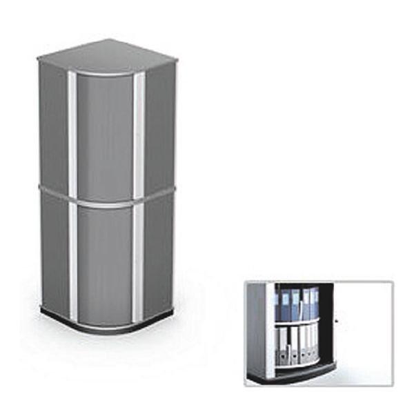 Moll Drehsäulen-Eckschrank »Lockfile Corner« in graphit