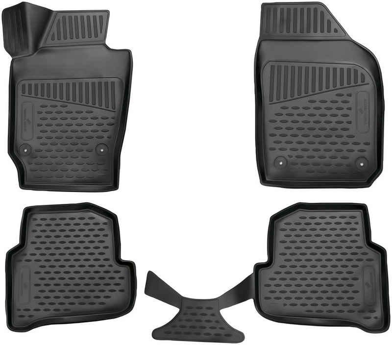 WALSER Passform-Fußmatten »XTR« (4 Stück), Skoda Fabia Kombi, Schrägheck, für Skoda Fabia BJ 2014 - heute