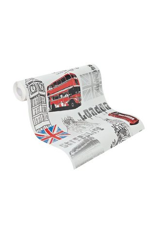 RASCH Обои »London« gemustert (1...
