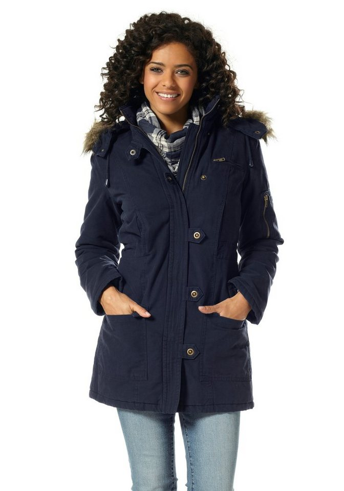 Boysen's Parka aus robuster Canvas-Baumwolle in marine
