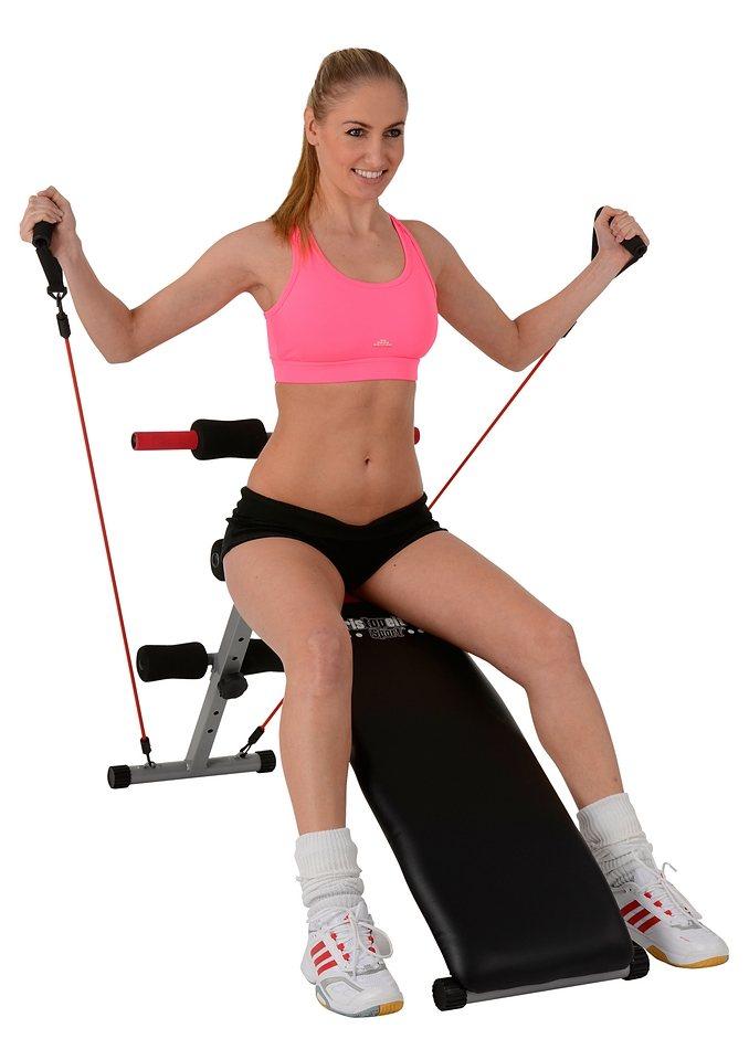 Christopeit Sport® Bauchtrainer mit Elastikzügen, »BG 2« in mehrfarbig