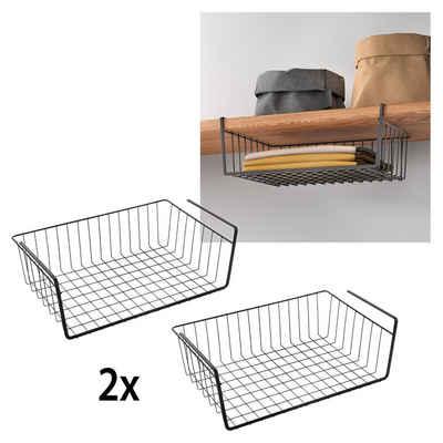 Metaltex Einhängekorb (2 Stück), Industrial Look, zum Einhängen