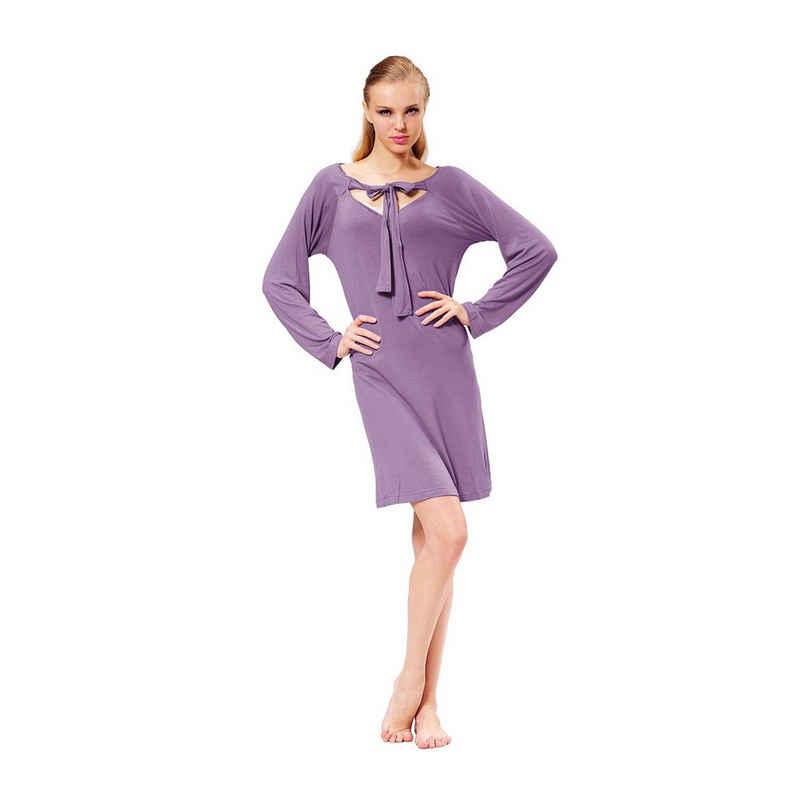 RAIKOU Nachthemd »RAIKOU Damen Luftiges Sommer Kleid Short Kleider Dress mit Netten Details«